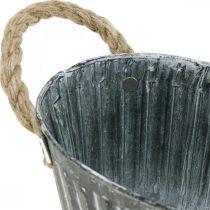 Bol à plantes en métal, bol à fleurs pour la plantation, bol décoratif avec anses L22,5cm