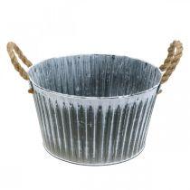 Coupe en métal, coupe à fleurs, cache-pot avec poignées Ø28cm