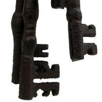 Trousseau de clés avec anneau métallique 7-15,5 cm brun