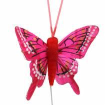 Papillon décoratif avec fil 5cm 24pcs trié