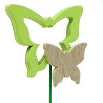 Pique décorative papillon coloris assortis H. 24 cm 24 p.