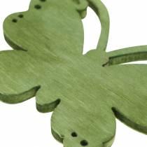 Papillons en bois vert/jaune/rouge à parsemer 4 cm