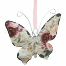 Papillon à accrocher cintre décoration en métal 7cm décoration de printemps 12pcs