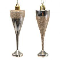 Flûtes de champagne à suspendre or pâle 10 cm 8 p.