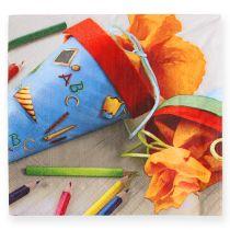 Serviettes en papier spécial écoliers 33 x 33 cm