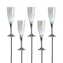 Déco de Saint Sylvestre piques flûtes de champagne 7,5 cm L. 27 cm 12 p.
