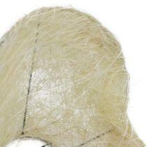 Support en sisal blanchi coeur 27 cm 1 p.