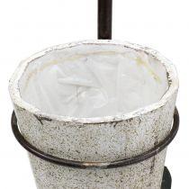 Bêche décorative à suspendre avec pot de fleurs 57,5cm
