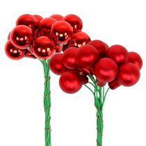 Miroir baies rouge mat brillant Ø1.5cm 140p