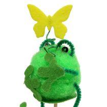 Pique verte grenouille 6 cm L. 25 cm 12 p.