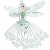 Bouchon décoratif fée des fleurs, décoration en métal, elfe sur un bâton, bouchon de fleur, décoration de printemps