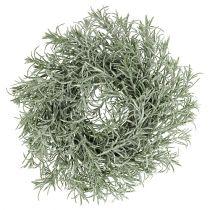 Couronne décorative Ø30cm avec vert pailleté