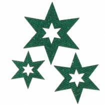 Décoration à contrôler étoile verte 3-5cm 48pcs