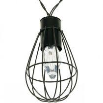 LED solaire guirlande lumineuse décoration de jardin noir 350cm 8LED