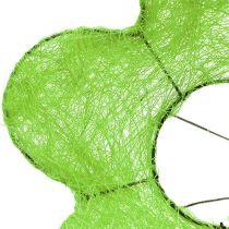 Support à bouquet en sisal vert Ø 15 cm 10 p.