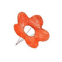 Support à fleurs en sisal orange Ø 15 cm 10 p.