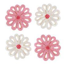 Fleurs de déco à parsemer 3 cm rose, crème 60 p.