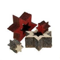 Wood Star Mix pour Scattering Red, Gray 2cm 96pcs
