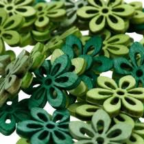 Saupoudrer de fleur de décoration vert, vert clair, fleurs de bois de menthe à saupoudrer 144p