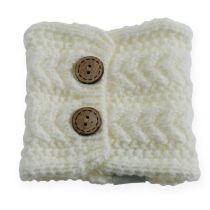 Tube à tricoter 10cm x 11cm Blanc 4pcs