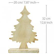Déco sapin de Noël bois lavé décoration de table Avent 32×20×5.5cm