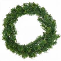 Couronne décorative en sapin couronne d'hiver artificielle verte Ø35cm