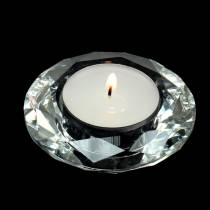 Photophore bougeoir diamant clair Ø7cm