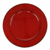 Assiette déco rouge / noir Ø22cm