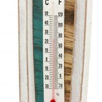 Thermomètre en bois en forme de bateau à suspendre 46 cm 1 p.