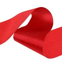 Chemin de table rouge 10 cm 15 m