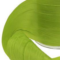 Chemin de table en tissu crash vert 100 mm 15 m