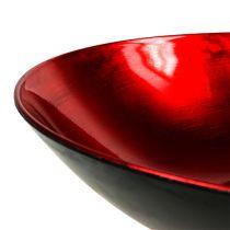 Décoration de table coupe rouge Ø 28 cm matière synthétique