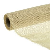 Chemin de table ruban jute blanchi 30cm 5m