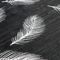 Chemin de table avec motif à plumes 30 x 500 cm