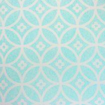 Chemin de table avec motif bleu clair 30 x 300 cm