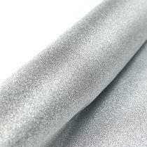 Chemin de table argenté 50 cm 3 m