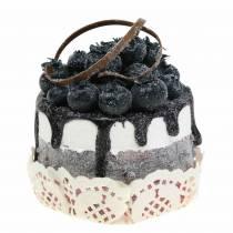 Cupcake décoratif myrtille réplique alimentaire 7cm