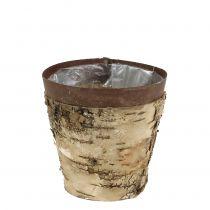 Pot en bouleau avec métal Ø 12,8 cm H. 12,5 cm 1 p.