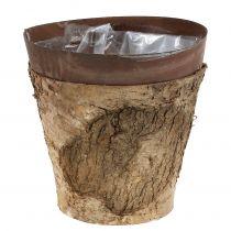 Pot en bouleau et métal Ø 17,5 cm H. 16,5 cm 1 p.