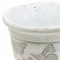 Jardinière en pot avec papillons Ø12,5cm H13cm 2pcs
