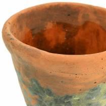 Jardinière vintage en terre cuite naturelle Ø11.5cm H9cm 3pcs