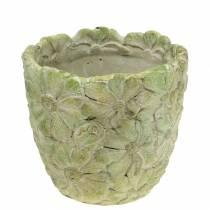 Cache-pot vert Ø15,5cm H15cm