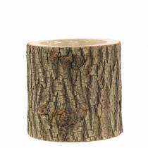 Cache-pot bois d'orme Ø11-13cm H11cm