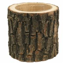 Jardinière en bois d'orme Ø16-18cm H15cm