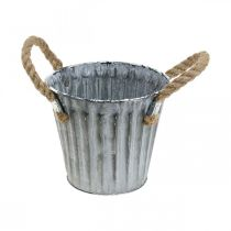 Cache-pot avec poignées, cache-pot en métal, pot décoratif à planter Ø14,5cm
