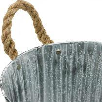 Jardinière, pot décoratif avec poignées, pot en métal pour planter Ø25,5cm