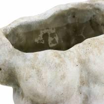 Cache-pot Torse Mâle Gris 19 × 13.5cm H28cm