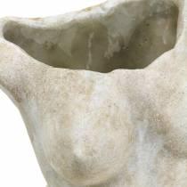 Cache-pot Torse Femelle Gris 19 × 13.5cm H27cm