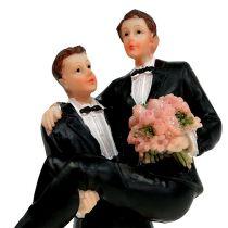 Figurine de gâteau couple d'hommes 13,5 cm