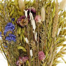 Bouquet de fleurs séchées rose naturel 45cm